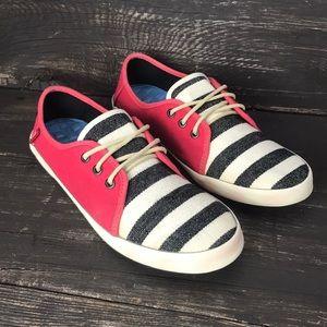 Vans Striped Canvas Shoes Size 8